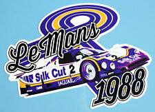 "24 heures du Mans 1988 Jaguar Silk Cut "" ""style rétro Autocollants Stickers x2"