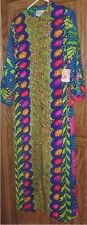 Vintage NWT FEINER FASHION Colorful abstract LOUNGEWEAR Gown 10
