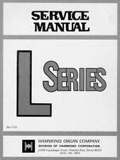 Manual De Servicio Para Hammond Organ L100, serie L En Cd