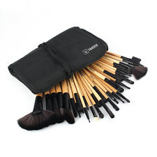 Yellow 32Pcs Makeup Brushes Professional Cosmetic Make Up Brush Set  +Pouch Bag