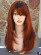 New Long copper Red Brown Cosplay Fashion Wig