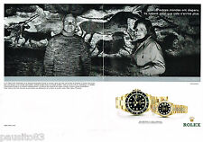 PUBLICITE ADVERTISING 065  2002  ROLEX  montre GMT MASTER & LADY DATEJUST  ( 2p)