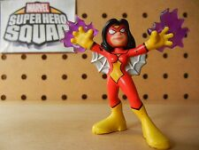 Marvel Super Hero Squad RARE SPIDER-WOMAN Purple Venom Bolts - Wave 15 Play Wear
