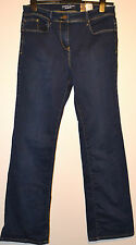 LADIES M&S SCULPT & LIFT SLIM BOOTLEG DENIM JEANS SIZE 12 MEDIUM INDIGO BNWT