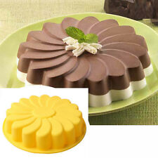 Silicone Large Flower Cake Mould Chocolate Soap Candy Jelly Mold Baking Pan t3