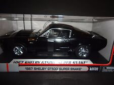 Shelby Collectibles Shelby GT500 Super Snake 1967 Black with Black stripe 1/18