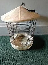 VINTAGE ANTIQUE CELLULOID BAKELITE BIRDCAGE ROUND DOME MARBLED ASIAN MOTIF