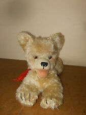 Ancienne peluche chien couché / vintage stuffed dog lying - Long. 44cm - 50/60's