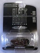 GREENLIGHT COLLECTIBLES 1:64 SCALE DIECAST METAL BLACK BANDIT 1970 FORD BRONCO