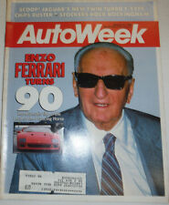 Autoweek Magazine Enzo Ferrari Turns 90 March 1988 122314R2