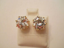 14K Gold Filled 6 Carat TW CZ Post Earrings Item #A108