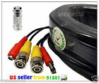 Black 100 ft Power & Video Cable for Security CCTV use / Zmodo / Swann / Qsee