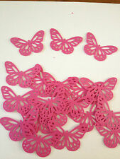 25 Bright Pink butterflies wedding crafts, scrapbooking, table confetti