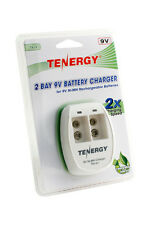 Tenergy TN141 2-Bay 9V Battery Smart Charger