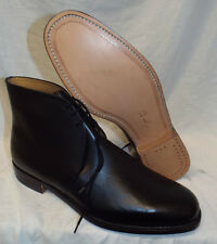 BLACK LEATHER GEORGE BOOTS - Size: 13 Large , No spur holes ,British army - NEW