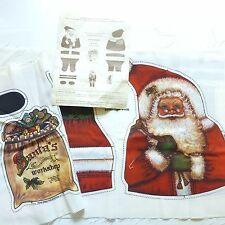 Vintage Dorothy Dear Santa Doll Pillow Christmas Cut & Sew Fabric Pattern Panel