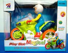 MOTORCYCLE TOY WITH LIGHTS SOUND AND DRIVER TOY BATTERY OPERATED NEW IN A BOX