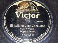 TALKING 78 rpm RECORD Victor EDGAR J. ANZOLA Venezuela EL HOMBRE DE LA LLANURA..