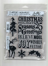 Stampers Anonymous Tim Holtz  Collection Season's Silhouettes CMS117 Cling Mount