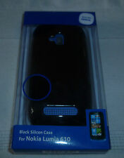 Black Silicon Case For NOKIA LUMIA 610 (1st class p+p)
