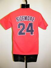 New-No Front- Cleveland Indians Grady Sizemore #24 Youth Large L Majestic Shirt