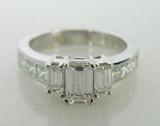 Amazing Three Stone Emerald Cut Diamond 2.00CTTW Engagement Ring in 14K Gold