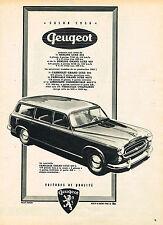 PUBLICITE ADVERTISING 045  1956  PEUGEOT 403L familiale GRAND LUXE