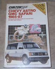 Chilton's Chevrolet Astro,  GMC Safari, 1985-87 Repair and Tune-up Guide book