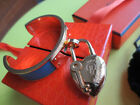 ROYAL COMBO! HERMES cuff bangle with YEAR 2004 Heart cadena GHW