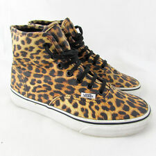 VANS Leopard Print off the wall high tops skate shoes SIZE 4 hi-top Cheetah RARE