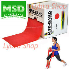 Msd FASCIA ELASTICA ROSSA Rotolo 45,50 mt MEDIA RES. Resistive Band Pilates Yoga