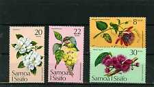 SAMOA 1975 Sc#411-414 FLORA/FLOWERS SET OF 4 STAMPS MNH