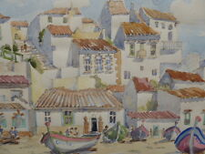 WATERCOLOUR PORTUGAL LISTED SCOTTISH ARTIST SYDNEY ARROBUS FREE SHIPPING