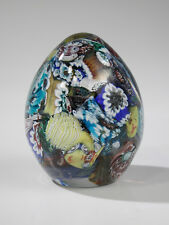 Murano Mid Century Art Glass Egg Paperweight Scrambled Mixed Shapes & Sizes