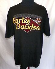 HARLEY DAVIDSON Motorcycle 100% Cotton, Black, Graphic Tee and Short Sleeve  XL