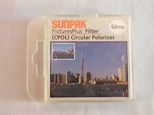 Sunpak 52mm C-P.L Circular Polarizer Lens Filter with Case ~ Excellent!!