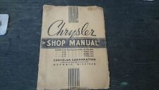 1937 chrysler. Factory original shop manuel good condition