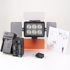 CameraPlus® Universal Professional High Brightness 6 LED Video Light + F750 Batt