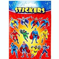 12 Sheets Superhero Stickers Boys Birthday Party  Loot Bag Fillers Kids Toys