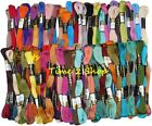New 50 Anchor Cross Stitch Skeins Cotton Embroidery Thread Floss ASSORTED COLOR