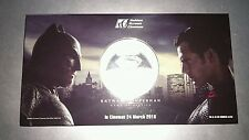 Malaysia 2016 GSC Batman Vs Superman Medallion Token Coin UNC BU NEW Proof like