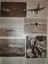 Article Pan-Am aircraft Sovereign of the Skies ditches pacific ocean 1956