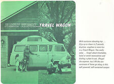 1965 1966 Ford Travel Wagon Camper Van 1-page Original Sales Brochure Fact Sheet