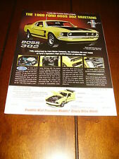 FRANKLIN MINT 1969 FORD MUSTANG BOSS 302  - ORIGINAL 1997 AD