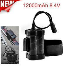 Pro 8.4V 12000mAh Rechargeable 4x 18650 Battery For Head Lamp Bike Bicycle Light