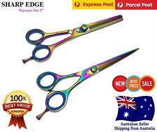 "5"" Professional Barber Hair Cutting Thinning Scissors Shears Hairdressing Set"
