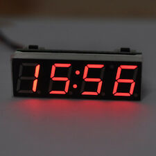 LED Digital Electronic Time Clock + Voltmeter + Thermometer for Car Auto