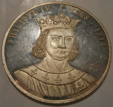 Médaille Philippe IV 40mm Série Rois de France Argent