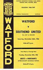Watford V Southend FA Cup 1966 48 años atrás! Eddy, Bond, Firmani, puede en muy buena condición