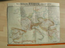 Europa um 1880. Aus Schlacher's General-Karte von Mittel-Europa in 14 Blättern
